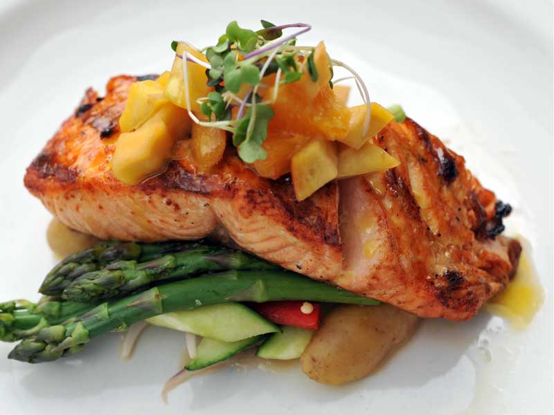 Mango Orange Roasted Salmon