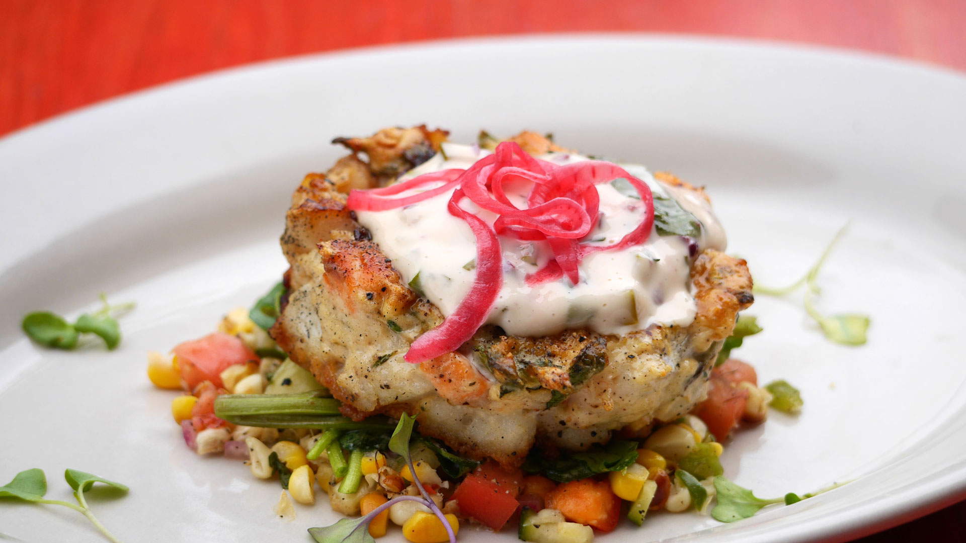 Fish Cake on plate