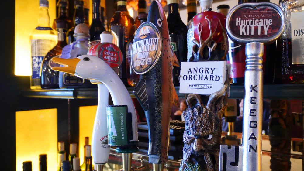Various beer taps