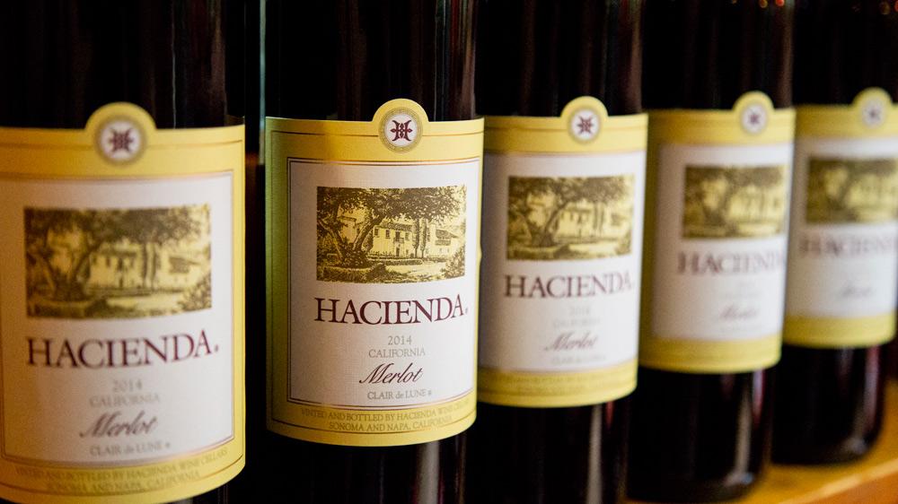 A row of Hacienda wine
